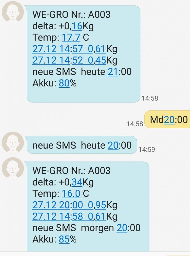 SMS Meldung